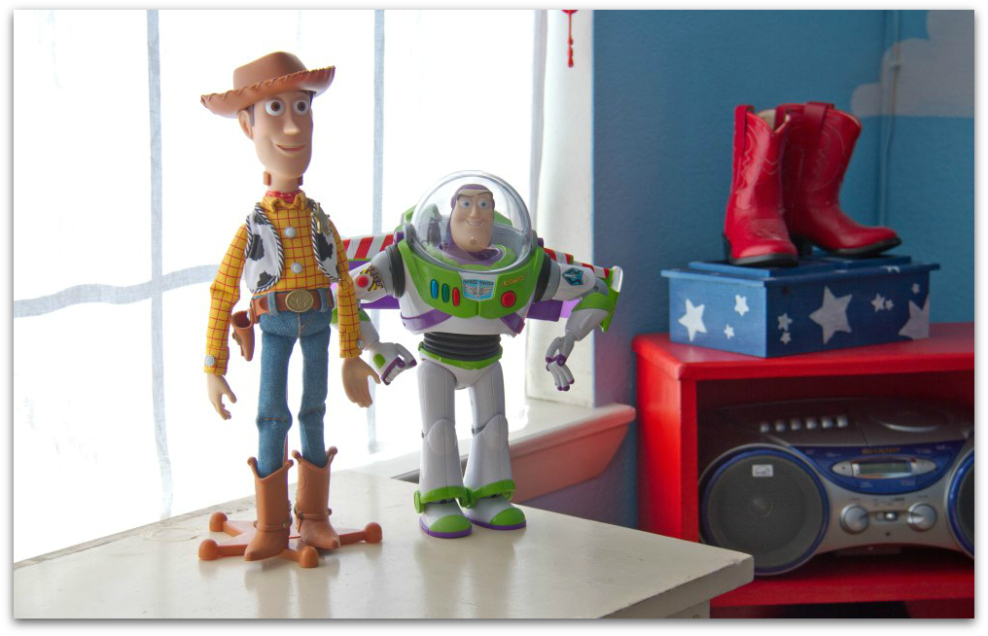 Cyrus's Toy Story room (close up)